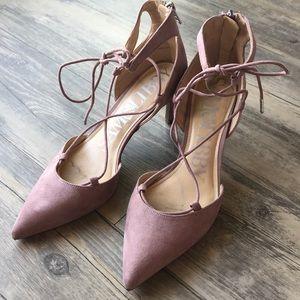 Mauve Pointed Toe Heels